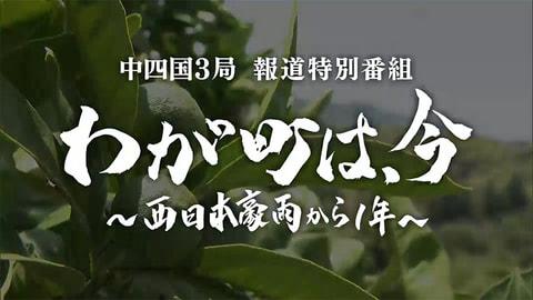 中四国3局報道特別番組 「わが町は、今~西日本豪雨から1年~」