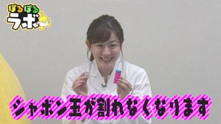~実験ラボ~斉藤アナが割れないしゃぼん玉の作り方を教えます!